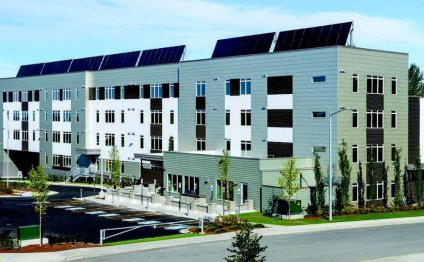 An apartment with solar panels