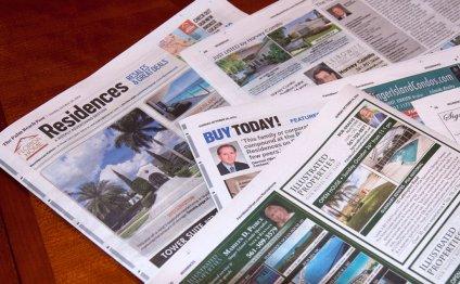Real estate newspaper ads